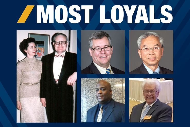 "The 2018 honorees for ""Most Loyals"""