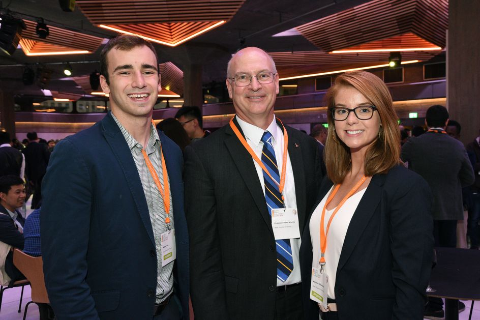 Billy Fox, David Wyrick, and Karoline Edmonds at the Global Grand Challenges Summit in London, England.