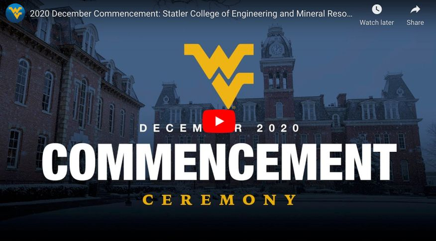 202 December Commencement Ceremony: Statler College of Engineering and Mineral Resources