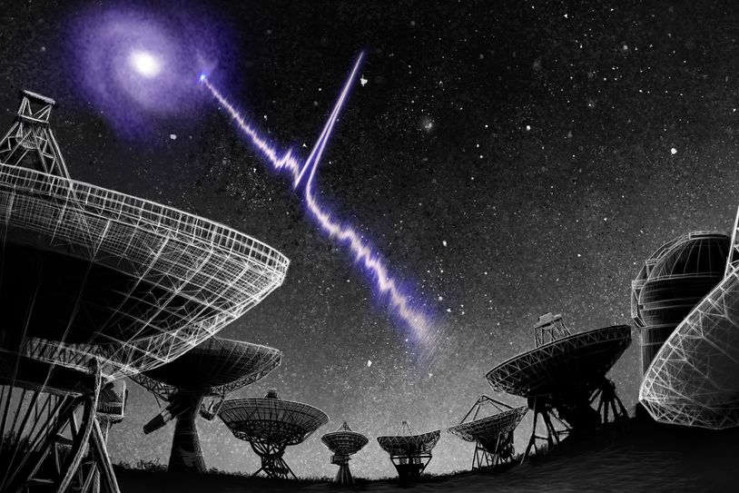 Artist's conception of a Fast Radio Burst