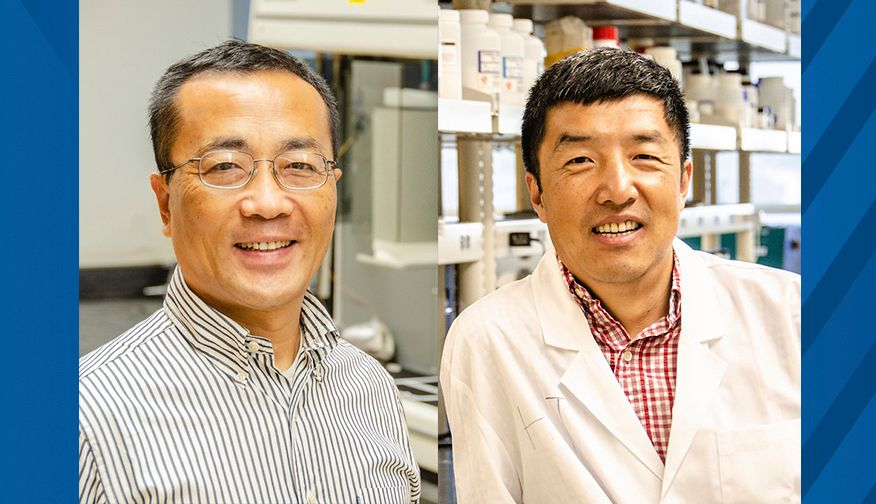 A portrait of John Hu and Xingbo Liu