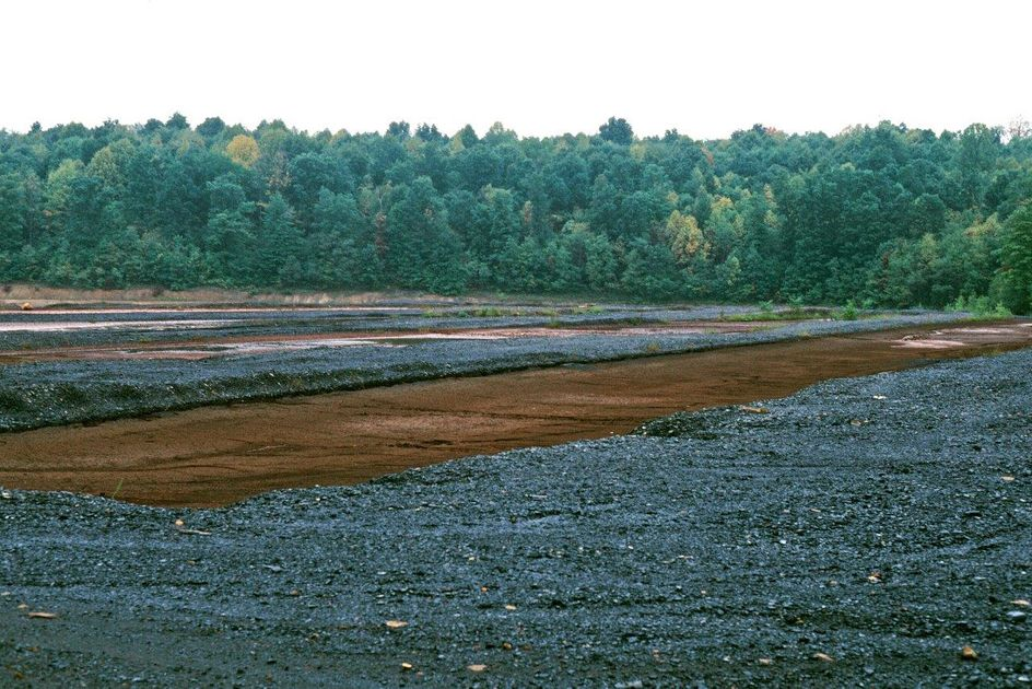 Photo of acid mine drainage
