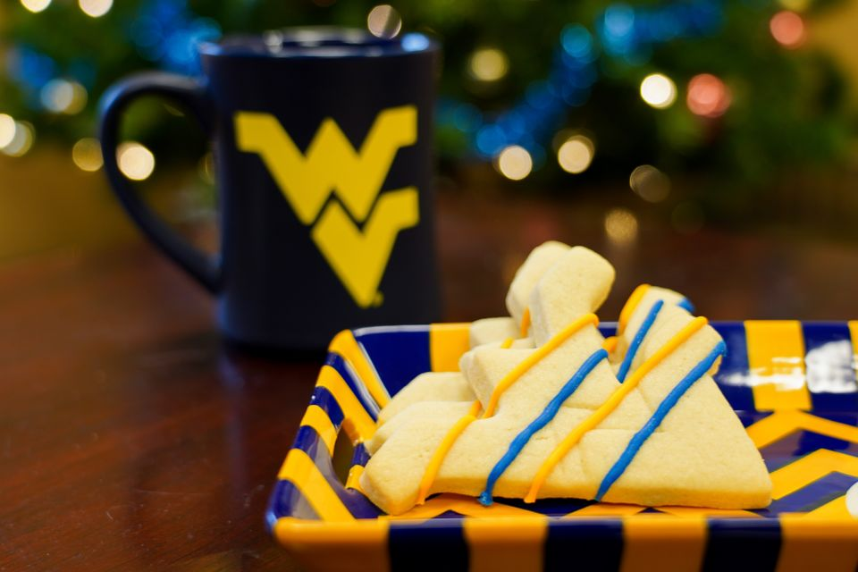 A plate of flying WV cookies