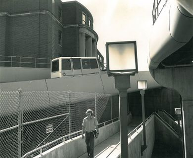 Archived Photo of Entry Ramp to Downtown Campus